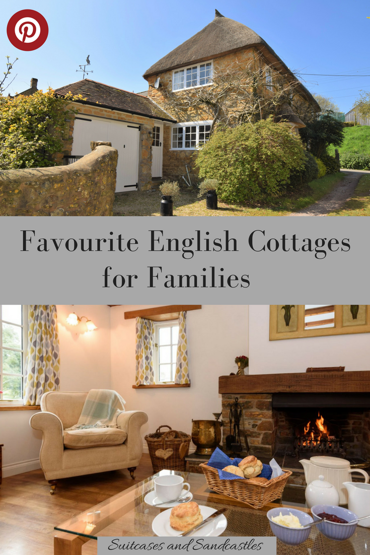 Favourite English Cottages for Families. Are you looking for the perfect cottage stay in England. Here are our favourites from thatched cottages in tiny villages to places beside the sea, near the UK's prettiest villages and most beautiful areas. Recommendations from top UK #familytravel bloggers. #familytraveluk #englishcottages #cottagecompanies #wheretostayuk #selfcateringuk